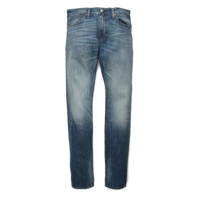 502-窄管丹寧牛仔褲-中藍洗色-Levis