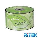 RITEK錸德 52X CD-R白金片 環保葉版/300片裸裝
