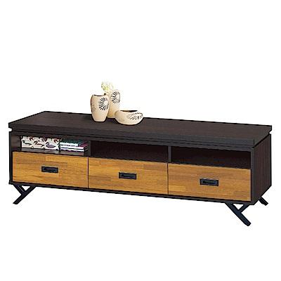 品家居 洛普5尺木紋三抽長櫃/電視櫃(二色可選)-150x39.5x52.5cm免組
