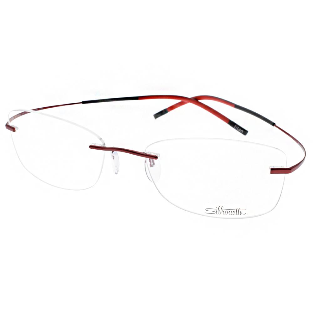 Silhouette詩樂眼鏡 輕盈無框款/紅#ST4422 C6072