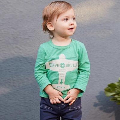 Dave Bella 綠色飛機T恤上衣