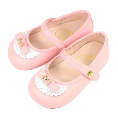 Swan天鵝童鞋-愛莉絲可愛蝴蝶結學步鞋1523-粉
