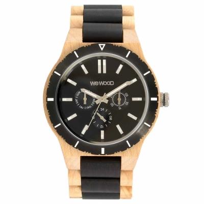 WEWOOD 義大利三眼木頭腕錶 KAPPA MB BEIGE BLACK-楓木/45mm