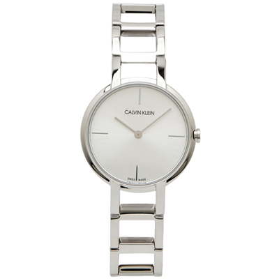 CK Calvin Klein 知性風采款的女性手錶(K8N23146)-銀面32mm