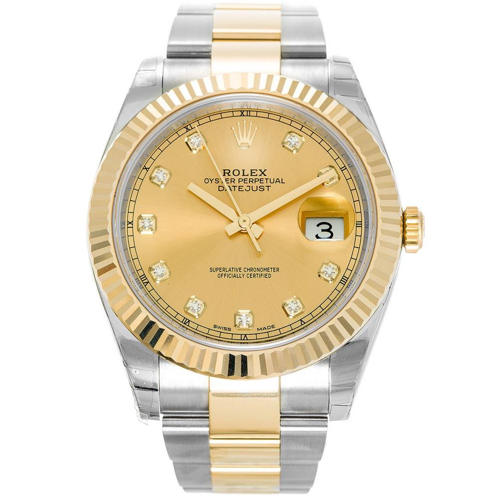 ROLEX 勞力士 126333 蠔式 Datejust 日誌型鑽面腕錶-金/41mm