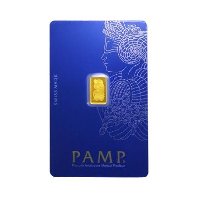 PAMP-財富女神像黃金條塊VERISCAN版本(1公克)