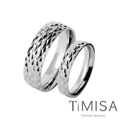 TiMISA《永恆閃耀 中+細版》純鈦對戒