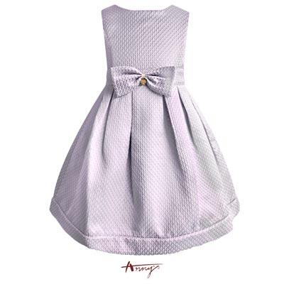 Annys夢幻公主訂製壓紋緞質硬挺洋裝 5218紫