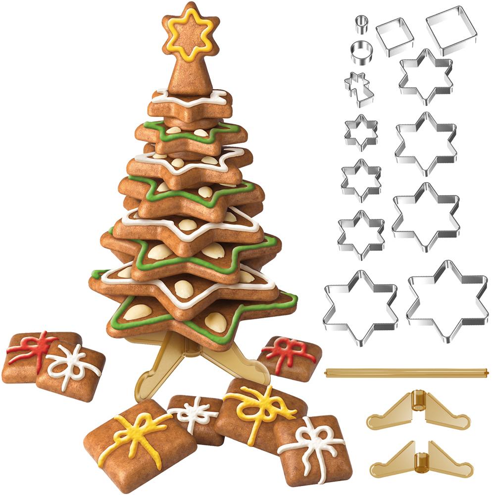 TESCOMA 立體餅乾切模16件(聖誕樹)