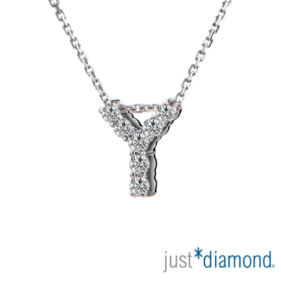 Just Diamond Love Words系列18K金鑽石墜子-Y