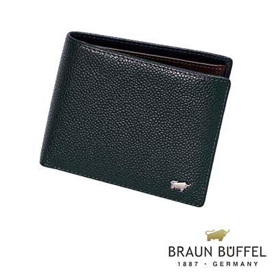 BRAUN-BUFFEL-CHUCHO丘喬系列4卡零錢皮夾-深藍色