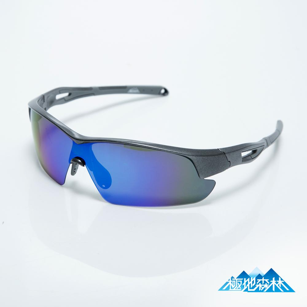 極地森林 TAC寶麗萊偏光鏡片電鍍REVO藍運動太陽眼鏡(7903)