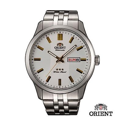 ORIENT 東方錶 OLD SCHOOL系列 三星復古風機械錶 鋼帶款 / 43mm