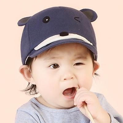 韓版 眨眼熊 兒童鴨舌帽