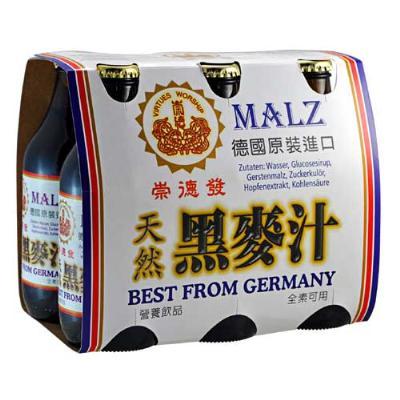 崇德發-天然黑麥汁-330ml-X-6瓶