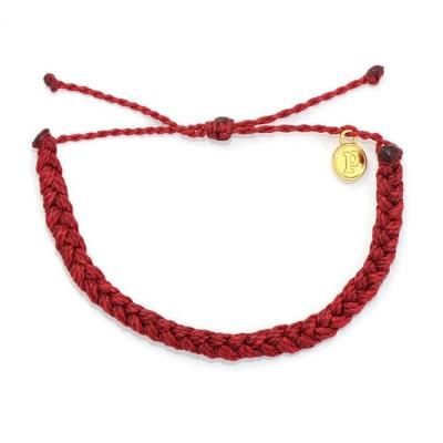 Pura Vida CANDY APPLE RED BRAIDED 蘋果紅粗線編織手鍊手環