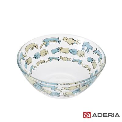 ADERIA Instyle貓咪玻璃碗(午睡款)