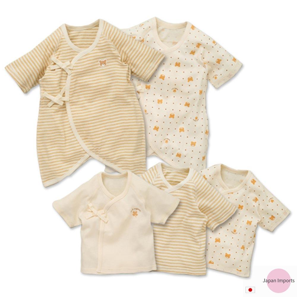 Japan Imports 有機棉熊熊寶寶內衣五件組