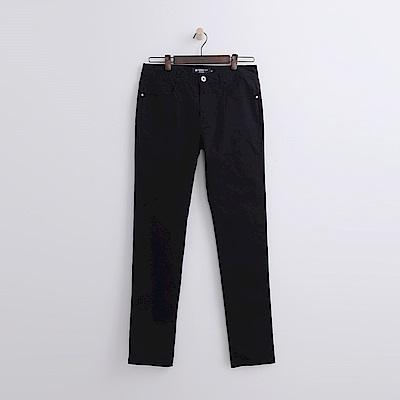 Hang Ten - 男裝 - 純色斜紋修身長褲-黑色