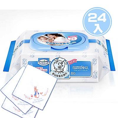 貝恩 NEW嬰兒保養柔濕巾/箱(24入)+奇哥 彼得兔紗布手帕(3入)