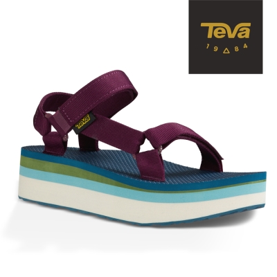 TEVA 美國-女 Flatform Universal 織帶厚底涼鞋 (葡萄紫)