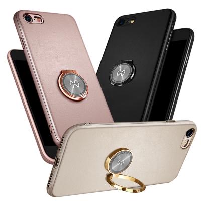 iPhone 8/iPhone 7 奢華皮革指環扣手機殼