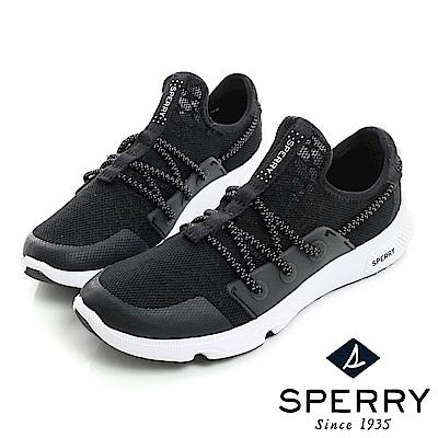 SPERRY 7SEAS釦環包覆運動時尚休閒鞋(女款)-黑
