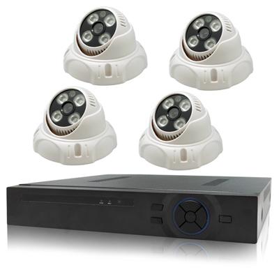 奇巧 4路AHD 720P高清監控套組(SONY四陣列130萬攝影機x4)