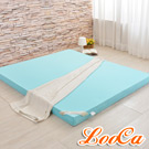 LooCa 日本大和涼感12cm釋壓記憶床墊 雙人5尺