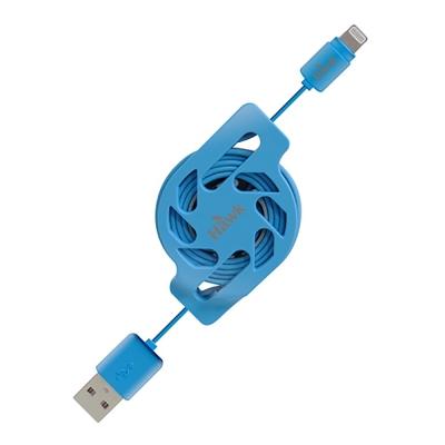 Hawk MFI Lightning 伸縮充電傳輸線 -1.2M(藍)