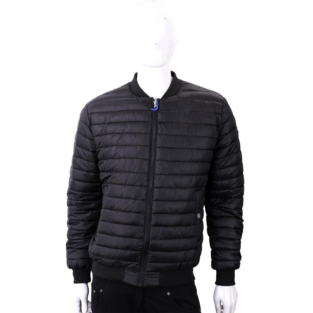 VERSACE 雙面穿幾何圖騰黑灰絎縫科技棉保暖夾克