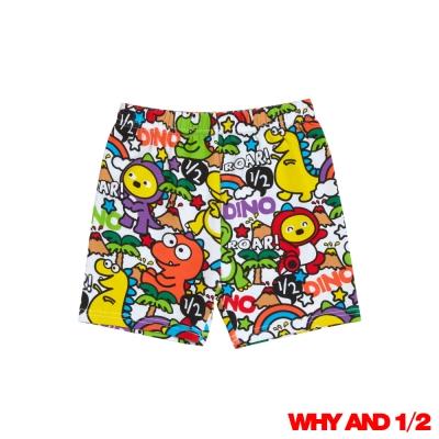 WHY AND 1/2 酷恐龍家居短褲 白色11Y~12Y