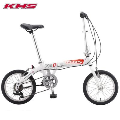 KHS 功學社 F-16D 鋁合金 16吋輪 6速折疊單車_白色