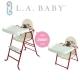【美國 L.A. Baby】高低可調兩用嬰兒餐椅/兒童餐椅(6個月-5歲皆適用-魔力紅) product thumbnail 1