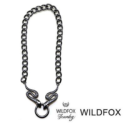 Wildfox Couture 美國品牌 古典蛇項鍊 黑色蛇項鍊