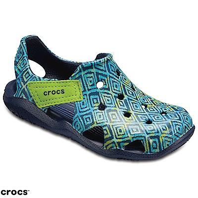 Crocs 卡駱馳 (童鞋) 激浪圖案涉水童鞋 204990-410