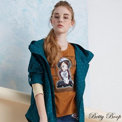 Betty Boop 彈性膠圖配色棒球T恤(共二色)