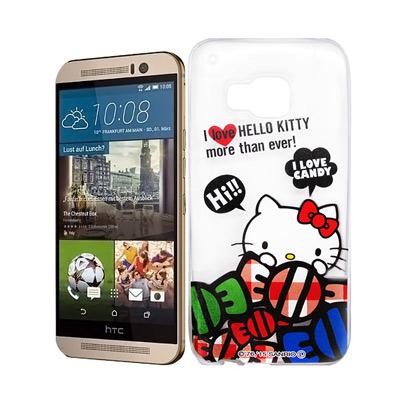 Hello Kitty HTC ONE M9 透明軟式殼 糖果款