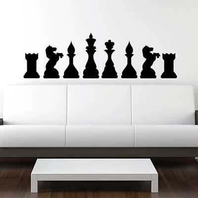 [摩達客]法國Ambiance 西洋棋設計 家飾壁貼