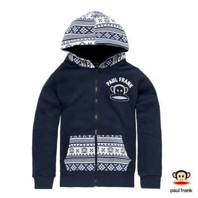 PAUL FRANK-經典雪花印花連帽外套-深藍(女)