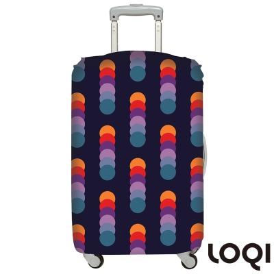 LOQI行李箱套 霓虹燈L號 適用28吋以上行李箱保護套