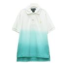 Ralph Lauren 男童刺繡小馬漸層短袖POLO衫-白/藍綠色(3/3T)
