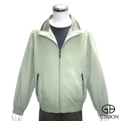 GIBBON 百搭立領雙層口袋輕薄外套‧草綠M~3L