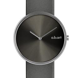 a.b.art DL系列 都會極簡時尚腕錶-鐵灰/39mm