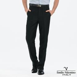Emilio Valentino 范倫提諾涼感紗平面西褲-黑