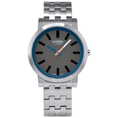 LICORNE entrée 精選時光休閒腕錶-灰藍/42mm