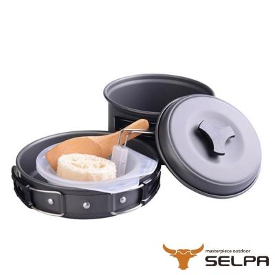 韓國SELPA 戶外不沾鍋設計鋁合金鍋具六件組/旅行/露營