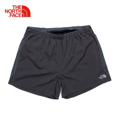 The North Face男款黑色吸濕排汗短褲