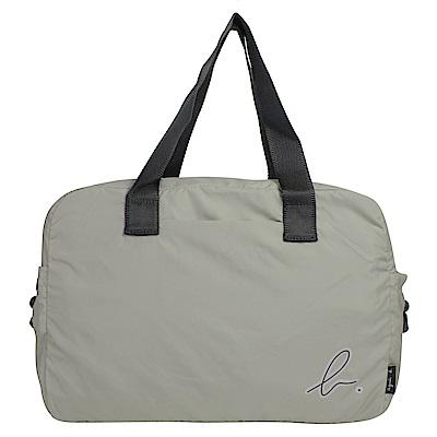 agnes b. 輕量手提肩背旅行袋-灰色/小