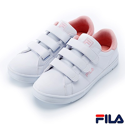 FILA #水果蘇打 女款潮流復古鞋-白粉 5-C105S-500